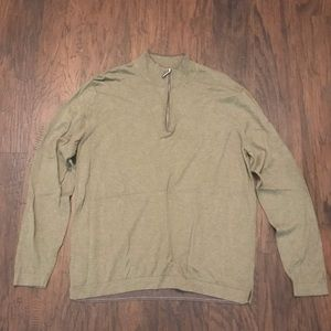 Tommy Bahama Green Men's Zip Cashmere Sweater L